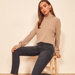 Reformation High and skinny crop in Avalon